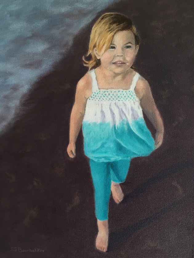 Grace at the Beach  11x14 (In Private Collection)